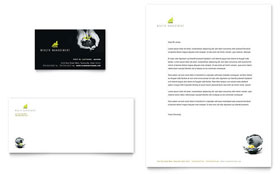 Wealth Management Services - Business Card & Letterhead Template Design Sample