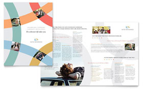Car Insurance Company - Brochure Template Design Sample