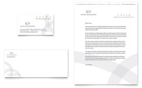 Car Insurance Company - Business Card & Letterhead Template Design Sample