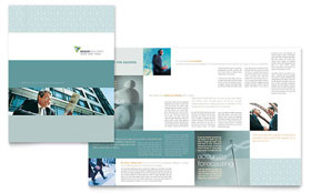 Wealth Management Services - Microsoft Publisher Brochure Template