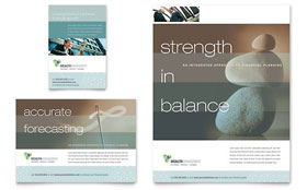 Wealth Management Services - Flyer & Ad Template Design Sample
