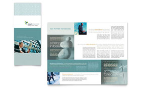 Wealth Management Services - Business Marketing Tri Fold Brochure Template