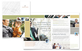 Investment Advisor - Print Design Brochure Template