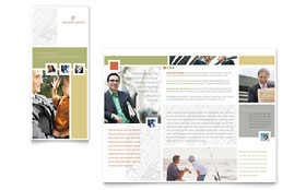 Investment Advisor - Brochure Template Design Sample