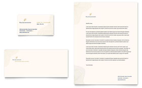 CPA & Tax Accountant - Business Card & Letterhead Template Design Sample