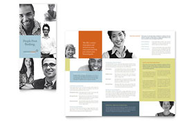 Private Bank - Microsoft Word Tri Fold Brochure Template