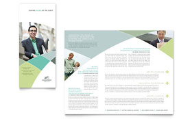 Financial Advisor - Brochure Template Design Sample