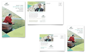 Financial Advisor - Postcard Template Design Sample