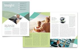 Financial Advisor - Newsletter Sample Template
