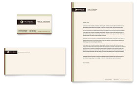Financial Planner - Business Card & Letterhead Template Design Sample