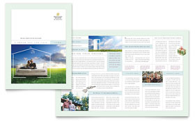 Mortgage Lenders - Brochure Template Design Sample