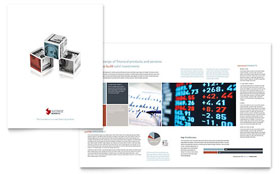 Investment Bank - Brochure Template Design Sample