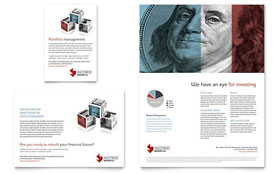 Investment Bank - Print Ad Template