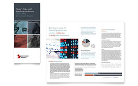 Investment Bank - Tri Fold Brochure Template Design Sample