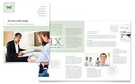 Accounting & Tax Services - Microsoft Publisher Brochure Template