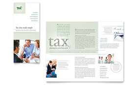 Accounting & Tax Services - Tri Fold Brochure Template Design Sample