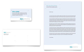 Estate Planning - Business Card & Letterhead Template Design Sample
