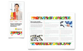 Bookkeeping Services - Tri Fold Brochure Template Design Sample