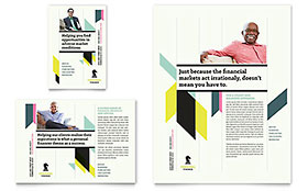 Personal Finance - Print Ad Sample Template
