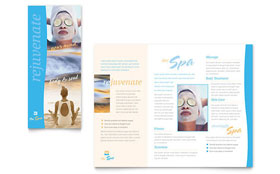 Beauty Spa - Microsoft Word Brochure Template