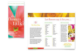 Florist Shop - Brochure Template Design Sample