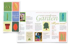 Garden & Landscape Design - Pamphlet Sample Template