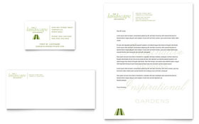 Garden & Landscape Design - Business Card & Letterhead