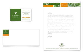 Veterinarian Clinic - Business Card & Letterhead Template Design Sample