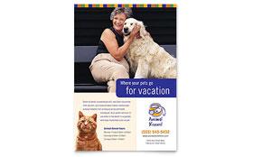 Dog Kennel & Pet Day Care - Leaflet Template