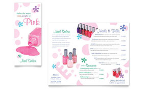 Nail Salon - Tri Fold Brochure Sample Template