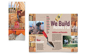 Home Builder & Contractor - Brochure Template Design Sample