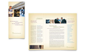 Attorney & Legal Services - Brochure Template Design Sample