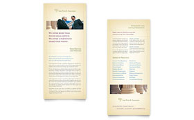 Attorney & Legal Services - Rack Card Template Design Sample