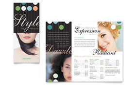 Beauty & Hair Salon - Apple iWork Pages Brochure Template