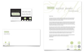 Beauty & Hair Salon - Business Card & Letterhead Template Design Sample
