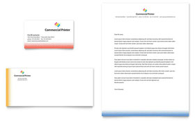 Commercial Printer - Business Card & Letterhead Template