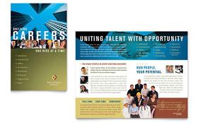 Employment Agency & Jobs Fair - Brochure Sample Template