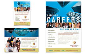 Employment Agency & Jobs Fair - Flyer & Ad Template