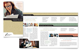 Bookkeeping & Accounting Services - Microsoft Publisher Brochure Template