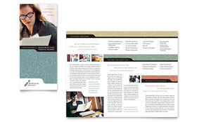 Bookkeeping & Accounting Services - Apple iWork Pages Tri Fold Brochure Template