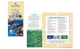 Circuit Board Manufacturer - Brochure Template Design Sample