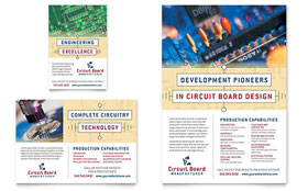 Circuit Board Manufacturer - Flyer & Ad Template Design Sample
