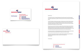 Transportation Company - Business Card & Letterhead Template