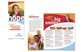 Community Non Profit - Brochure Template Design Sample