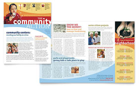 Community Non Profit - Newsletter Template Design Sample
