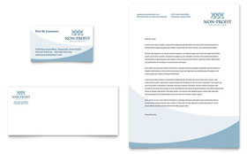 Community Non Profit - Business Card & Letterhead Template