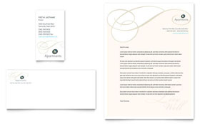 Apartment & Condominium - Business Card & Letterhead Template Design Sample