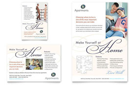Apartment & Condominium - Flyer & Ad Template Design Sample