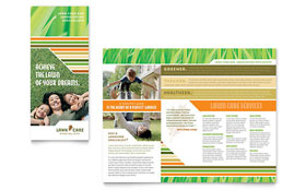 Lawn Care & Mowing - Brochure Sample Template