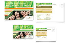 Lawn Care & Mowing - Postcard Sample Template